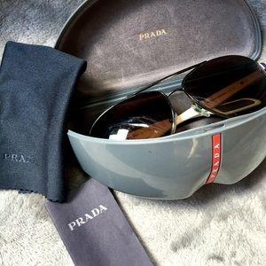 PRADA men's aviator glasses